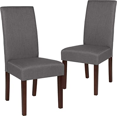 Flash Furniture 2 Pk. Greenwich Series Light Gray Fabric Parsons Chair