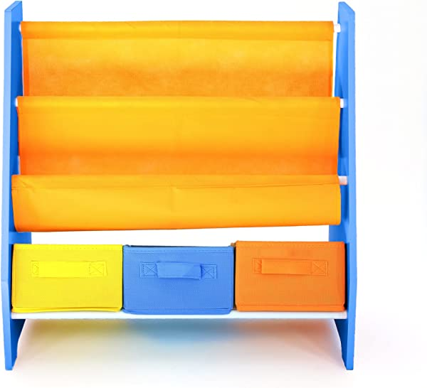 Bebe Style Premium Children S Furniture Wooden Rack Sling Bookcase Shelf For Easy Organization And Storage Easy Assembly