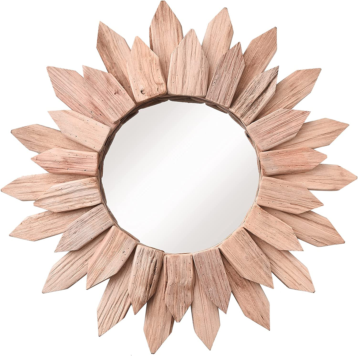 Cityelf Now on sale Discount mail order Wooden Sunburst Mirror Wall for Decor Home Room