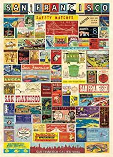 Cavallini & Co. Vintage San Francisco Matchbook Covers Decorative Paper
