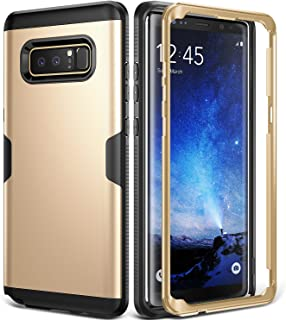 YOUMAKER Galaxy Note 8 Case, Full Body Heavy Duty Protection Shockproof Slim Fit Case Cover for Samsung Galaxy Note 8 (2017 Release) Without Built-in Screen Protector (Gold/Black)