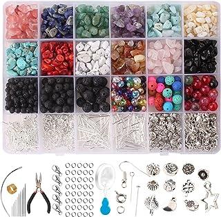 Set di accessori per la fabbricazione di gioielli articoli artigianali per gioielli Queta kit fai da te orecchini bracciali 5400 pezzi di perline di argilla polierica collane