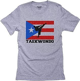 Hollywood Thread Puerto Rico Olympic - Taekwondo - Flag Men's T-Shirt