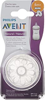 Philips Avent Natural Baby Bottle Nipple, Fast Flow Nipple, 6M+, 2pk