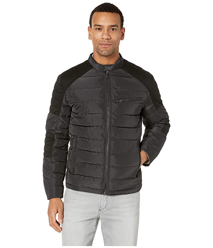 Marc New York by Andrew Marc Packable Moto Jacket (Black) Men