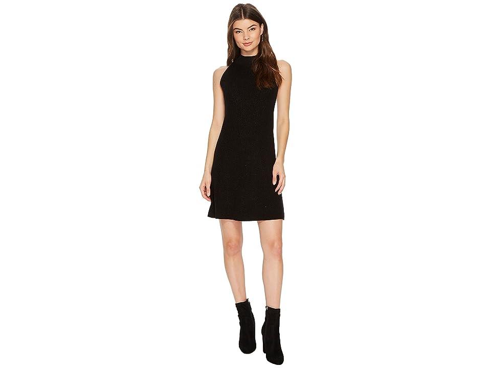 1.STATE Mock Neck Shift Dress (Rich Black) Women