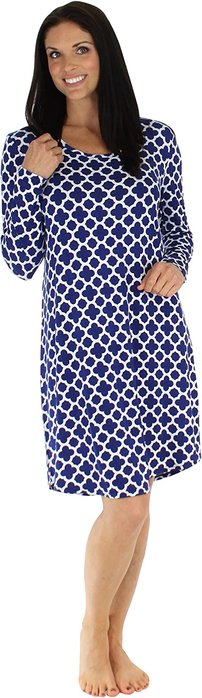 BSoft Women's Sleepwear Bamboo Jersey Long Sleeve Nightgown
