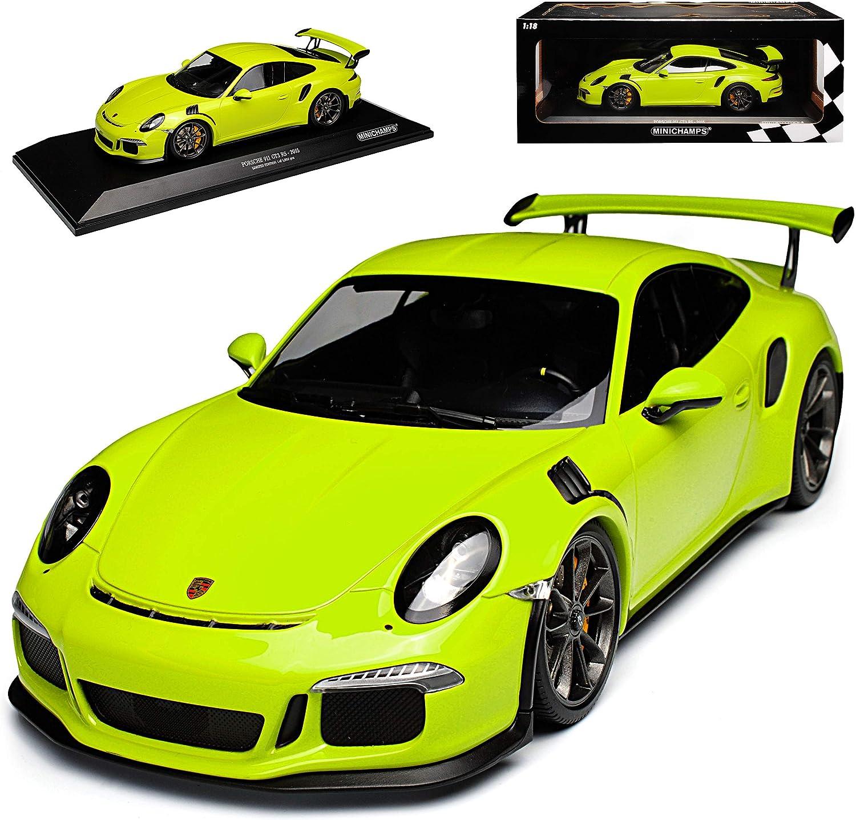 Minichamps Porsche 911 991 Gt3 Rs Coupe Licht Grün Ab 2013 Limitiert 1002 Stück 1 18 Modell Auto Spielzeug