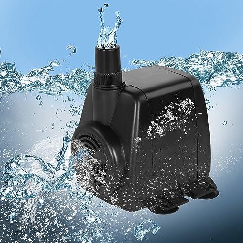 Jago - Pompe à Eau Submersible pour Aquarium Étang Fontaine 1.400 l/h (Débit au Choix)