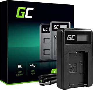 Green Cell® Cargador para Panasonic Lumix DC FZ82 Cámara (5W 8.4V 0.6A Negro)