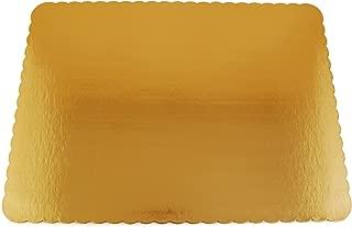 Southern Champion Tray 1650 Sturdy Corrugated Single Wall Cake Pad, Half Sheet, Gold Metallic, Greaseproof, 19