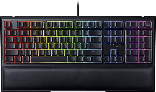 Razer Ornata V2 Gaming Keyboard: Hybrid Mechanical Key Switches - Customizable Chroma RGB Lighting - Individually Bac...