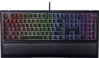 Razer Ornata V2 Gaming Keyboard: Hybrid Mechanical Key Switches - Customizable Chroma RGB Lighting - Individually Backlit Keys - Detachable Plush Wrist Rest - Programmable Macros