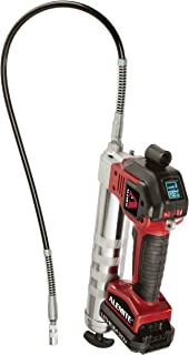 Alemite 596-A1 Battery-Powered Grease Gun, 110V/60 Hz, 10,000 psi, 6.0oz/min High Flow Rate, 596 Series, Red/Black/Silver