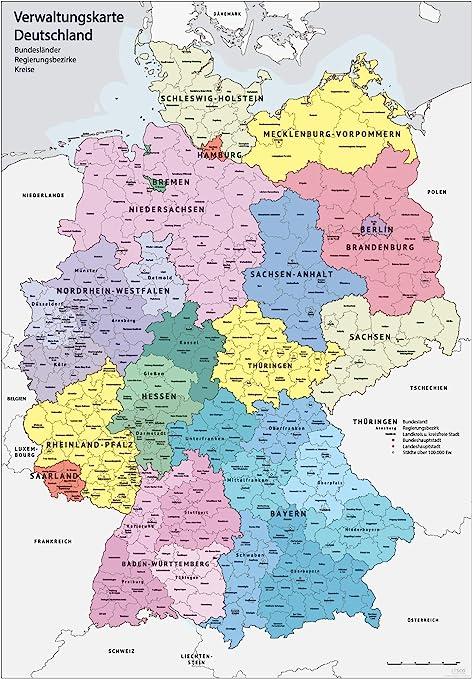 Karte deutschland bundesländer hauptstadt Германиянын 16