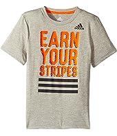 adidas Kids - Earn Your Stripes Tee (Big Kids)
