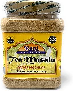 Rani Natural Tea (Chai) Masala 16oz (1lb) 454g Bulk PET Jar ~ All Natural   Vegan   Gluten Free Ingredients   Salt & Sugar Free   NON-GMO