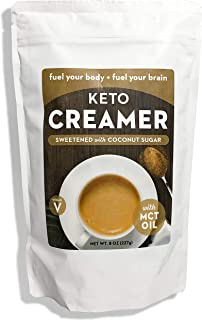 Keto Creamer with MCT Oil, Dairy Free Super Creamer with Coconut Sugar, 8 oz Resealable Bag