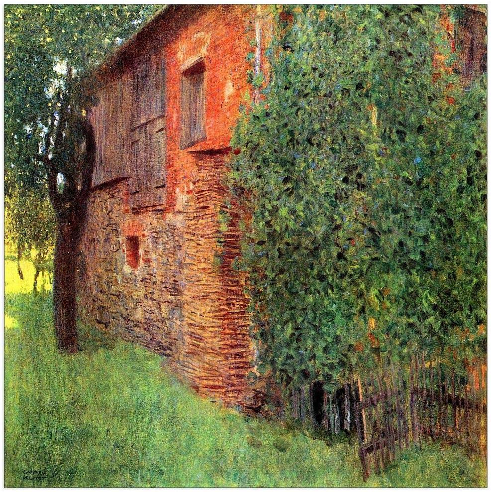 ArtPlaza Klimt Popular brand Gustav - Farmhouse Attersee Dealing full price reduction Decorat in Chamber
