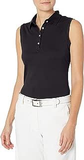 & Buck Women's Moisture Wicking, UPF 50+, Sleeveless Clare Polo Shirt