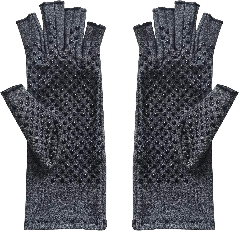 Borlai Men and Women Fingerless Gloves Unisex Adult Half- finger Gloves