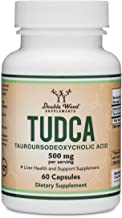 TUDCA Liver Support Supplement, 500mg Servings, Liver Health Aid for Detox and Cleanse (60 Capsules, 250mg) Genuine Bile A...