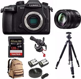 PANASONIC LUMIX DC-GH5 Body 4K Mirrorless Camera + PANASONIC H-HSA12035 F2.8 II Lens 12-35MM + 128GB Bundle