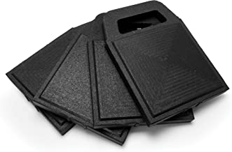 Camco Stabilizer Jack Flex Pads - Helps Prevent Jacks and Stabilizer from Sinking into The Ground |Can Be Used on Uneven Surfaces| UV Resistant & Weatherproof - 4 Pack  (44591)