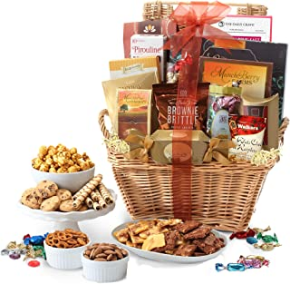 Broadway Basketeers Deluxe Gift Basket with Lindt Chocolates, Perfect Gift For Father's Day, Thinking Of You, Corporate Gi...