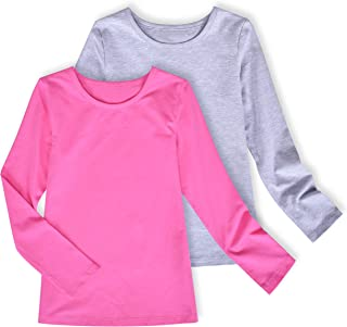 Cupcake Girls/' Basic Long Sleeve T Shirt Toddlers/' Cotton Essential Tops Kids/' Crew Neck Tees