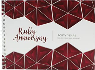 Unique 40th Wedding Anniversary Memory Book with Stickers and A Matching Card - 5-Second Memory Journal for Your Special Ruby Anniversary - The Perfect Keepsake Booklet for Special Memories