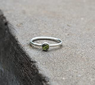Details about  /Natural Black Tourmaline Ring 925 Sterling Silver Brush Finished Prong Ring-S363