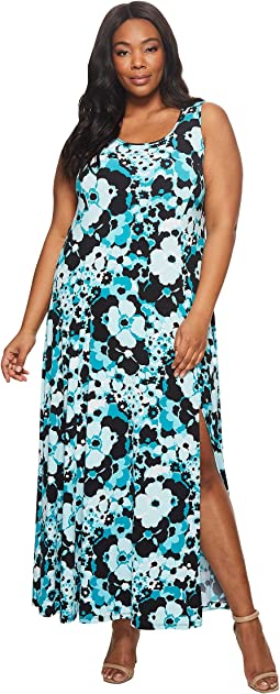 Plus Size Spring Floral Maxi Tank Dress