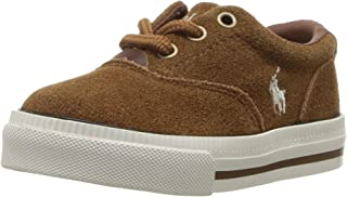 Polo Ralph Lauren Kids Boys' Vaughn II Sneaker, Snuff Suede, 5.5 Medium US Big Kid