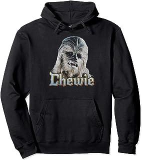 Star Wars Chewie Gray Scale Portrait Sweat à Capuche