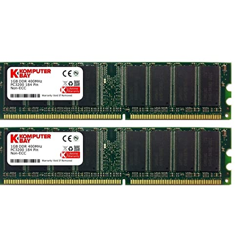 Komputerbay 2 GB DDR PC 3200 - Kit memoria DIMM para PC, 2GB (2