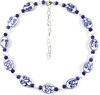 delft blue necklace