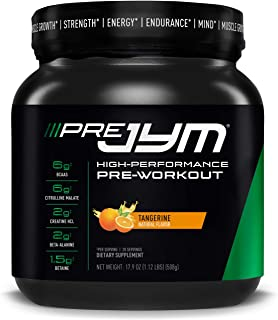 Pre JYM Pre Workout Powder - BCAAs, Creatine HCI, Citrulline Malate, Beta-Alanine, Betaine, and More | JYM Supplement Science, 20 Servings