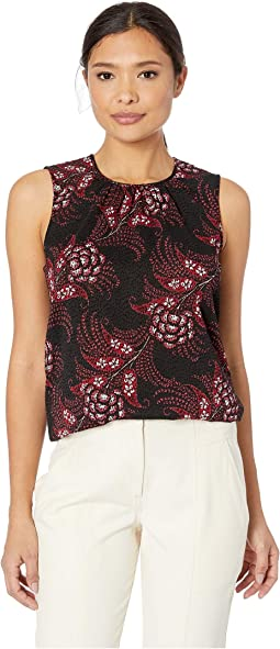 Printed Sleeveless Woven Top
