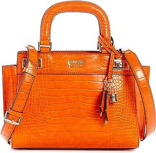 Guess Katey Croc Print Handbag Orange