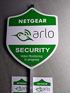 arlo Security Yard Sign with (6) Window Outdoor Stickers