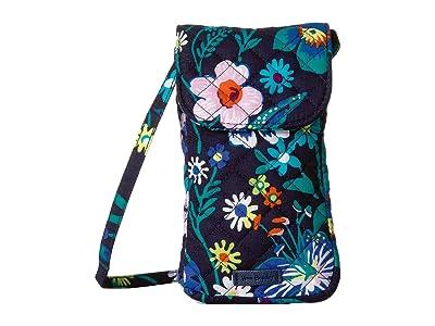 Vera Bradley Carson Cellphone Crossbody (Moonlight Garden) Cross Body Handbags