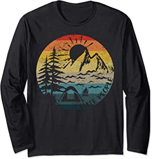 I Hate People Vintage Sun Retro Camping Hiking Funny Gift Long Sleeve T-Shirt