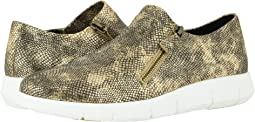 Gold Snake Print Suede