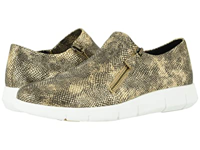 Johnston & Murphy Tracy (Gold Snake Print Suede) Women