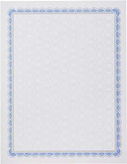 印刷证书 - 蓝色和灰色边框