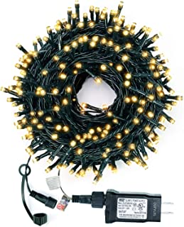 Christmas String Lights,108FT 300 LED String Lights IP65 Fairy Lights UL Certificated Outdoor String Lights End to End Connectable for Garden,Patio,Wedding, Christma Trees, Parties etc. (Warm White)