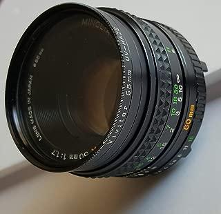 Minolta MD Rokkor-X 1:1.7 f=50mm Lens