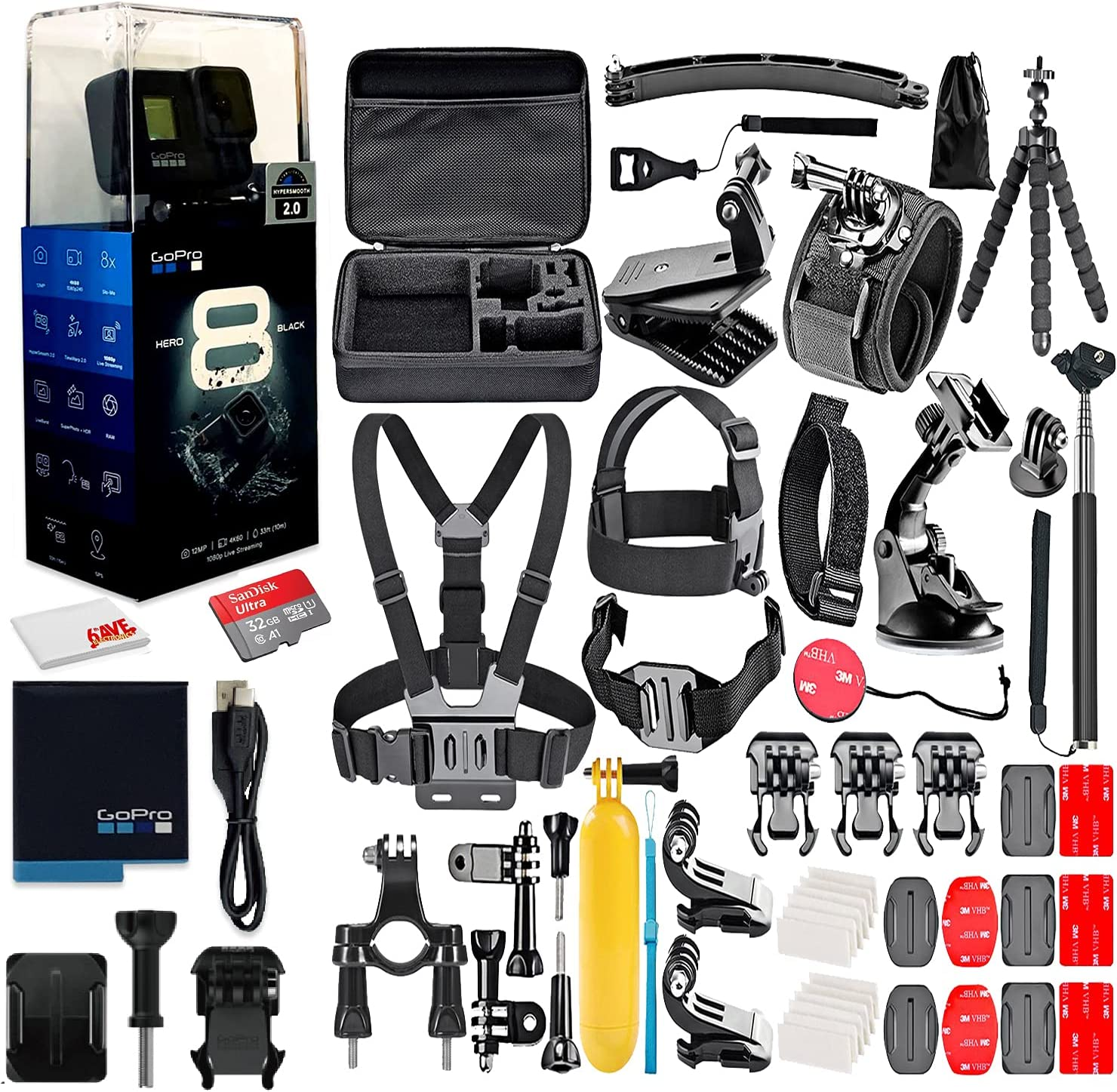 GoPro Excellence HERO8 Black Digital Action Camera Scre Waterproof - Indianapolis Mall Touch