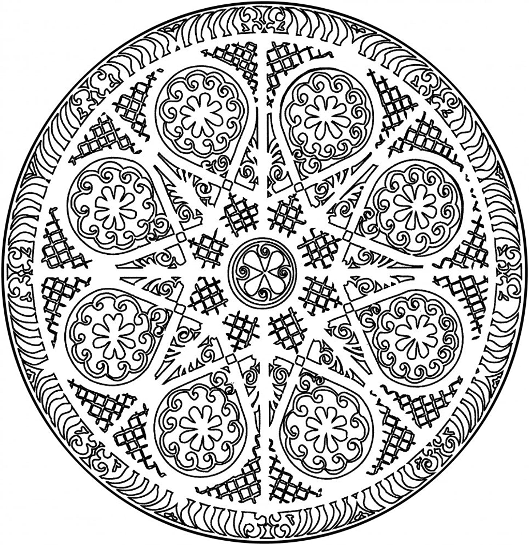 Lebensfreudeladen Mandala Leinwandmalvorlage 111 100 x 100 cm B00G28NQ3M | Fuxin